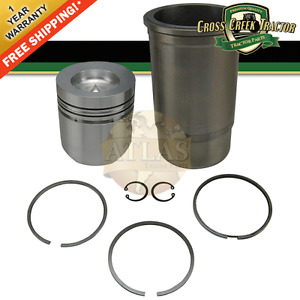 Ar71591 New Piston And Sleeve Set For John Deere 820 830 1020 1030 300 300a 350
