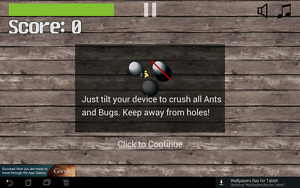 Tilting Ant Squashing Game Android Source Code Game