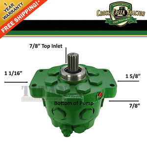 Ar90459 New Hydraulic Pump For John Deere 2510 3010 4010 5010 2520 3020 1830