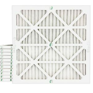 20x20x1 Merv 8 Pleated Ac Furnace Air Filters 12 Pack