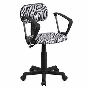 Flash Furniture Black And White Zebra Print Swivel Task Chair Bt z bk a gg