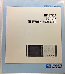 Hp 8757a Scalar Network Analyzer Operating Manual P n 08757 90065