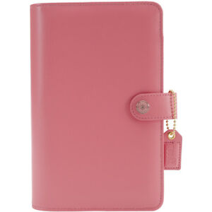 Webster s Pages Color Crush A5 Faux Leather 6 ring Planner Binder 7 5 x10 light
