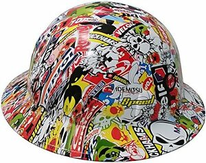 Texas America Safety Company Sticker Bomb Full Brim Style Hydro Dipped Hard Hat