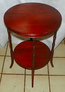 Solid Mahogany Round End Table Side Table T613