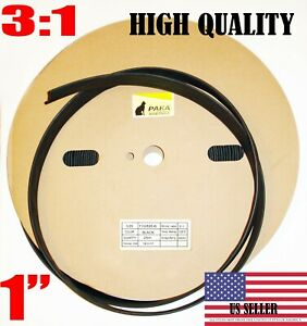 5 Feet 1 Industrial Black Heat Shrink Tubing 3 1 Adhesive Glue Lined Tubes