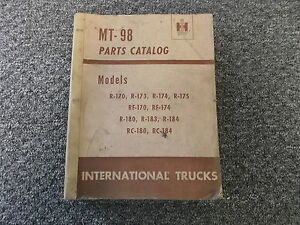 International Harvester R 175 Rf 170 Rf 174 Truck Parts Catalog Manual Manual