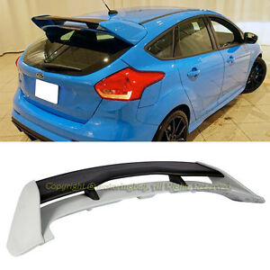 For 13 18 Ford Focus Hatchback Rs Style Rear Roof Trunk Wing Spoiler Abs Plastic