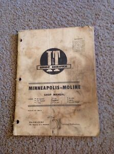 I t Minneapolis Moline Tractor Shop Manual Mm 16 Ub Special Uts Ms M Series