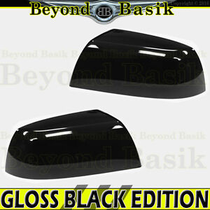For 2007 2020 Toyota Tundra Gloss Black Mirror Covers Overlays Non Towing Top