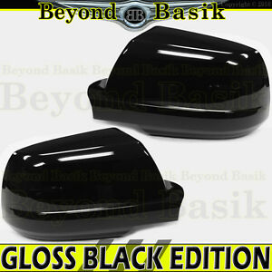 2007 2018 Toyota Tundra Gloss Black Mirror Covers Overlay Trim 2pc L R Non Tow
