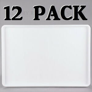 12 Pack 18 X 26 White Display Storage Tray Bakery Donut Cafe Cookie Serving