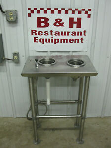 Eagle Dq Stainless 2 Bowl Dip Well Sink Flurry Ice Cream Table Station Yt2415