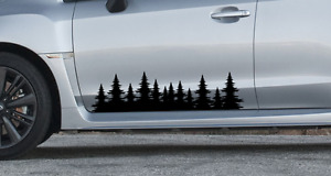 Forest Tree Side Decal Graphics Sticker Outdoors Subaru Impreza Forester