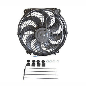 New 14 Inch Push Pull Universal Radiator Cooling Fan And Mounting Kit 1250cfm
