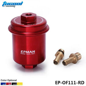 Tucool Sport Anodized Red High Flow Turbo Fuel Filter Jdm For Integra Rs Ls Gsr