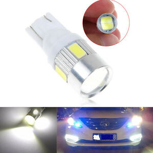 T10 W5w 5630 6smd Led Car Side Light Bulb Wedge Lamp 168 194 192 158 Super White