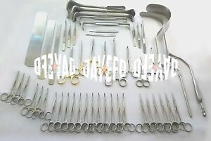 Laparotomy Set 104 Pcs Surgical Instruments Surgery Medical Abdominal Gold Basic