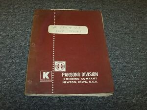Parsons 125 126 Trencher Line Truck Owner Operator Instruction Guide Manual