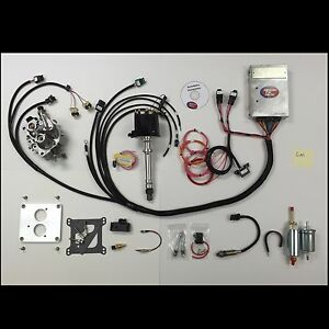 Complete Tbi Throttle Body Injection Kit For 5 7l Small Block Chevy
