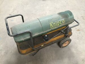 Knipco Portable Heater Model F 98 Torpedo Style 85 000 Btu Green yellow