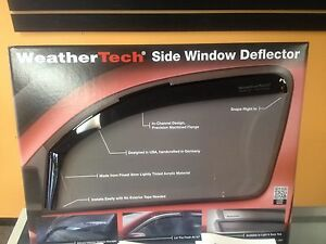 Ford F150 Weathertech In channel Rain Guards 2015 2020 Crew Cab 4pc Set