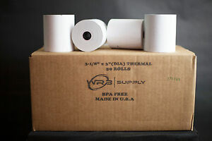 Thermal Printer Paper Rolls 3 1 8 In w X 230 Ft 50 Rolls case