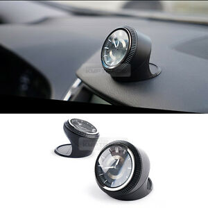 Detachable Classic Analog Car Clock Dashboard Black For All Types Of Vehicle