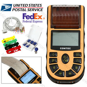 Contec Digital Ecg80a Electrocardiograph 1 Channel 12 Lead With Pc Sw Printer