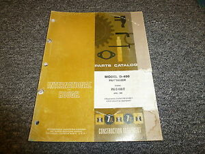 International Hough D400 Pay Dozer Tractor Parts Catalog Manual Book Pmd4002