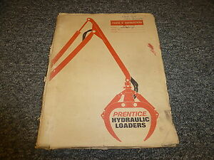 Prentice Series J Hydraulic Truck Mounted Loader Parts Catalog Manual