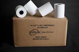 2 1 4 X 85 Thermal Paper 50 Rolls For Verifone Omni 3200
