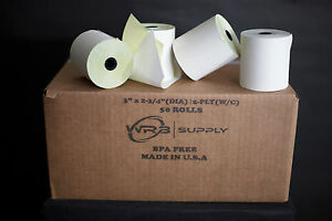 3 X 90 2 Ply White canary Cash Register Printer Pos Paper Roll 50 Rolls Case