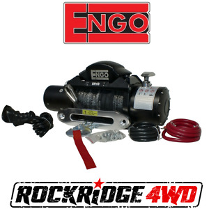Engo Sr10s Electric 10k Synthetic Rope Winch 3 8 X 85 Aluminum Fairlead New