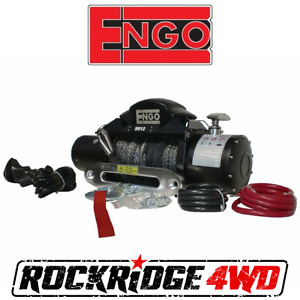 Engo Sr12s Electric 12k Synthetic Winch 3 8 X 85 Aluminum Hawse Fairlead