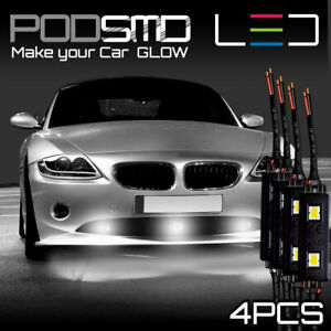 White Accent Underbody Neon Glow Kit Under Car Rock Led Light For Dodge Neon Srt
