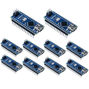 Us 10pcs Mini Usb Nano V3 0 Atmega328p 5v 16m Micro Controller Board For Arduino