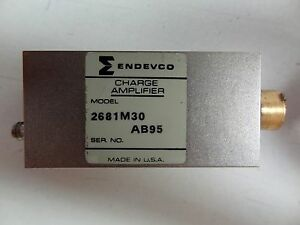 Endevco Charge Amplifier Model 2681m30 Gain Range 1 100 free Shipping