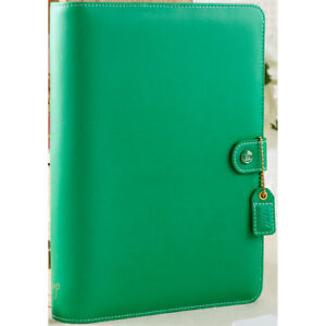 Webster s Pages Color Crush A5 Faux Leather Planner Kit 7 5 x10 summer Green