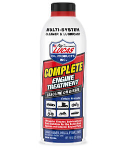 Lucas Complete Engine Cleaner Treatment Gas Diesel Fuel Engine 3x16oz 10016 Usa
