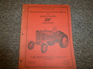 Massey Harris Colt 21 Tractor Operator Service Repair Maintenance Manual