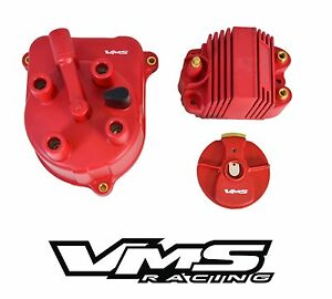Vms Racing Oe Style Distributor Cap Rotor External Coil For 92 01 Honda Prelude