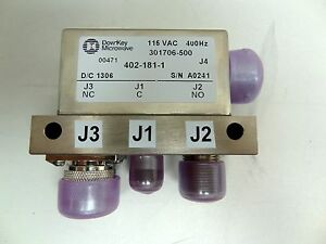 Dow key 402 181 1 Coaxial Rf Switch Spdt