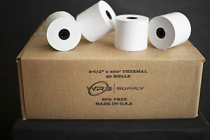2 1 4 X 200 Thermal Cash Register Pos Receipt Paper 50 Rolls Case