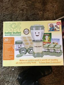 Magic Bullet BABY BULLET Complete Baby Food Making System Exc Cond Box