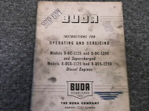 Buda 8dc 1290 8 dc 1125 Diesel Supercharged Engine Shop Service Repair Manual