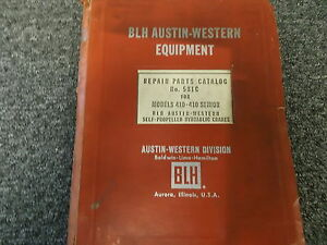 Blh Austin Western 410 410 Senior Self Propelled Hydraulic Crane Parts Manual