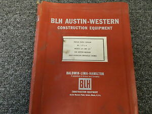 Blh Austin Western 105 110 Self Propelled Hydraulic Crane Parts Catalog Manual