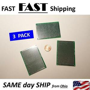 Double side Prototype Pcb Panel Universal Circuit Board 3 Pack