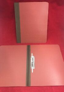 New Lot Of 100 Letter Expanding File Folder 1 W permclip Fastener Red